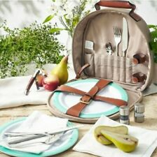 FORTNUM AND MASON 2 PERSON CANVAS PICNIC CARRY ALL