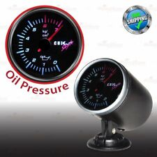 68mm 12V CAR Gauge WHITE Light TINTED Lens 270 Degree Scale Meter OIL PRESSURE