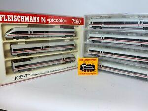 Fleischmann 7460 ICE-T, 7-teilig der DB, neuwertig, Spur N,  [C]