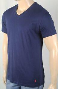Polo Ralph Lauren Navy Blue Classic V-Neck Sleep Tee T-Shirt Red Pony NWT