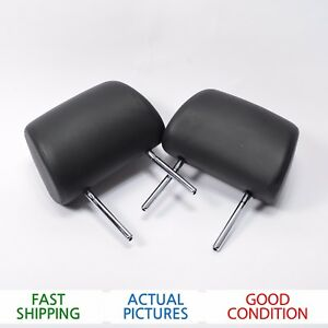 2004 - 2005 AUDI A8 QUATTRO LEFT & RIGHT SIDE REAR HEADRESTS x2 - OEM