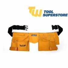 Heavy Duty Tool Belt Double Pouch DIY Professional Leather Adjustable Tool Belt