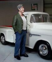 G LGB 1:24 Scale Manager Jeans Customer Model Figure Garage Workshop Diorama