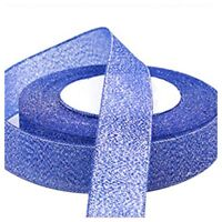 22 Metres 25mm Double Sided Satin Glitter Ribbons Bling Bows Reels Wedding F2F9