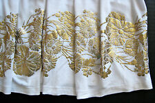 H&M HM White With Gold Flowers Pleaded Top Blouse Shirt Size XS Cute & Rare!