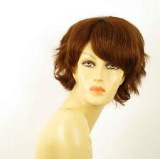 perruque femme 100% cheveux naturel châtain clair cuivré ref HELENE 30