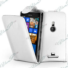Case Cover Flap Pocket Leatherette White For Nokia Lumia 925