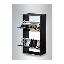 Ikea armoire à chaussures avec 2 compartiments (noir ou blanc)