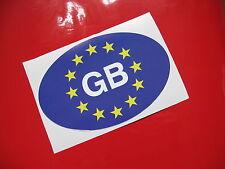 Euro GB Ovale Adesivi / Decalcomanie X2