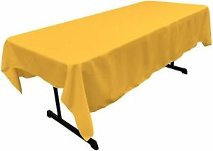 """60"""" X 84"""" Tablecloth in Rectangular Polyester Tablecloth Wedding Event Party"""