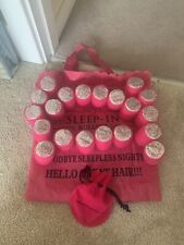 Sleep-in Hair Rollers 20 Pink Multi Glitter
