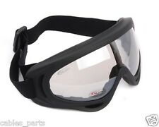 Black Airsoft Paintball Tactical UV400 Wind Dust Ski Protection Goggle Glasses