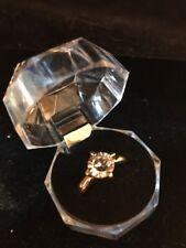 Large Crystal (Transparent color) Ring Gold – Size 7.25 Fashion Ships N 24h