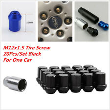 20pcs JDM M12 x 1.5 Racing Lug Wheel Nuts Screw For Honda Ford Toyota Black