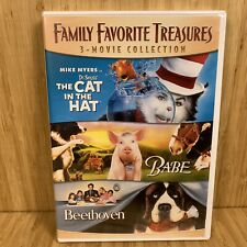 Family Favorite Treasures 3-Movie (The Cat In Hat / Babe / Beethoven) DVD NEW