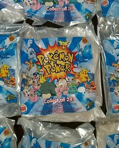 LOT OF 12 Pokemon 3D Power Card Burger King Kids Meal Toy 2000 New Sealed NIP