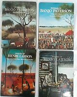 4 x Books Pro Hart Illustrated Poems of Henry Lawson & Banjo Paterson HARDCOVERS