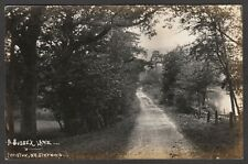 Postcard Wiston nr Steyning Sussex early view of A Sussex Lane RP by W J Drewett