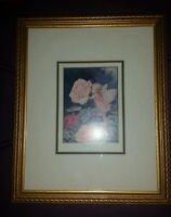 Cute Magical Rose Fairy Angel Framed Art Print Fairies