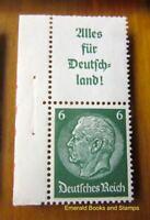 EBS Germany 1936 Hindenburg se-tenant Zusammendruck Mi. S139 MNH** MARGIN cv$10