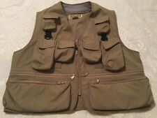 Fishing Vest Mens Size L Photography Hunting Fishing Traveling Beige