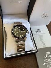 Orient Ray II FAA02005D Men's Stainless Steel Automatic Wristwatch - Silver/Blue