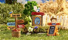Fairy Garden Mini - Farmer's Market Signs - Set of 3