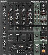 Behringer Djx900 Profi 5 Kanal DJ Mixer Studio USB Record Mischpult Interface