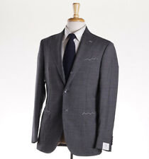 NWT $3800 LUIGI BORRELLI NAPOLI Gray-Black Patterned Wool Suit Slim 38 R (Eu 48)