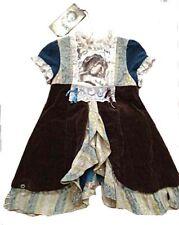 JOTTUM Rembrandt Brown & Gold Velvet Dress & Skirt VHTF