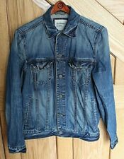 4b4b45d6a Old Navy Denim Jacket Men's Size S Factory Distressed Chest 40.25