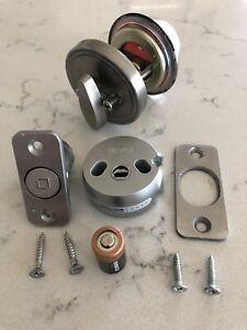 Level Lock Invisible Smart Door Bolt w/Schlage Satin Nickel DeadBolt Lock & Key