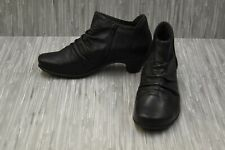 Naot Advanced Leather Ankle Booties, Women's Size 9, Black NEW