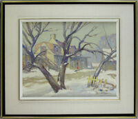 William Hughes Taylor RCA (1891-1960) Canadian Quebec Listed Vintage Oil/Panel