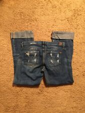 GUESS DISTRESSED FOXY FLARE JEANS...SIZE 29