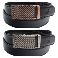QHA Mens Stylish Automatic Ratchet Belt For Men Luxury Fashion Waist Auto Buckle