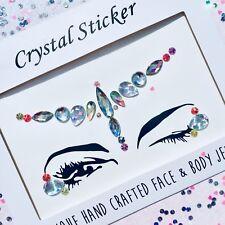 Face Gems Tattoo Mermaid Unicorn Tears Glitter Love Island Gypsy Festival Pink