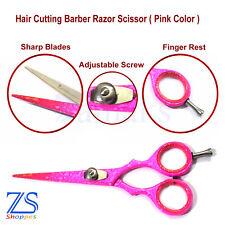Professional Pink Hairdressing Hair Cutting Barber Salon Scissors Razor Sharp