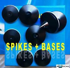 SPIKES  - PUNTAS (4 Unidades) + 4 BASES PROTECCION SP-305 (PACK COMPLETO)
