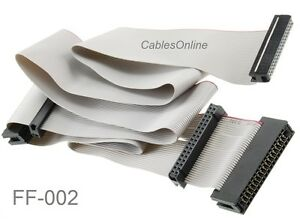 """36"""" Universal 34-Pin Floppy Drive Ribbon Cable for 3.5"""" and/or 5.25"""" Drives"""