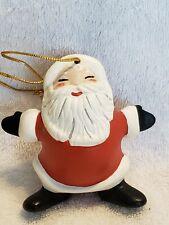 Vintage Santa Claus Ceramic Ornament 3.25 inches