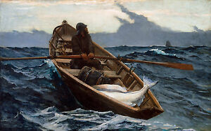 Winslow Homer - The Fog Warning, 1885, Museum Art Poster, Canvas Print