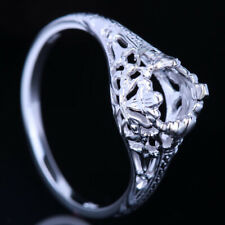 Sterling Silver 5.5mm Round Cut Antique / Vintage Semi Mount Ring Without Stones