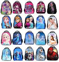 New 16'' Frozen Elsa Anna Violetta Kids Backpack Girls Boys School Bag Gift