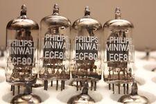 PHILIPS MINIWATT ECF80 ( 6BL8 CV5215 ) - triode/pentode - MATCHED QUAD - NOS