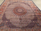 AN AWESOME WOOL AND SILK FISH DESIGN MESHED RUG