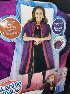 "Disney Frozen 2 Blankie Tails Adventure Anna Wearable Blanket 56""x30"" Soft New"