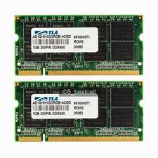 NEW 2GB 2X1GB PC3200 DDR-400Mhz 200Pin PC3200S DDR1 Laptop Memory Ram NON-ECC