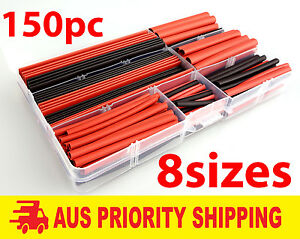 LearCNC - Heat Shrink Pack 150 Pieces Red and Black 2:1 Tubing Heatshrink