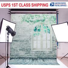 5x7FT Dreamlike Theme Brick Wall Window Floor Studio Vinyl Photography Backdrop